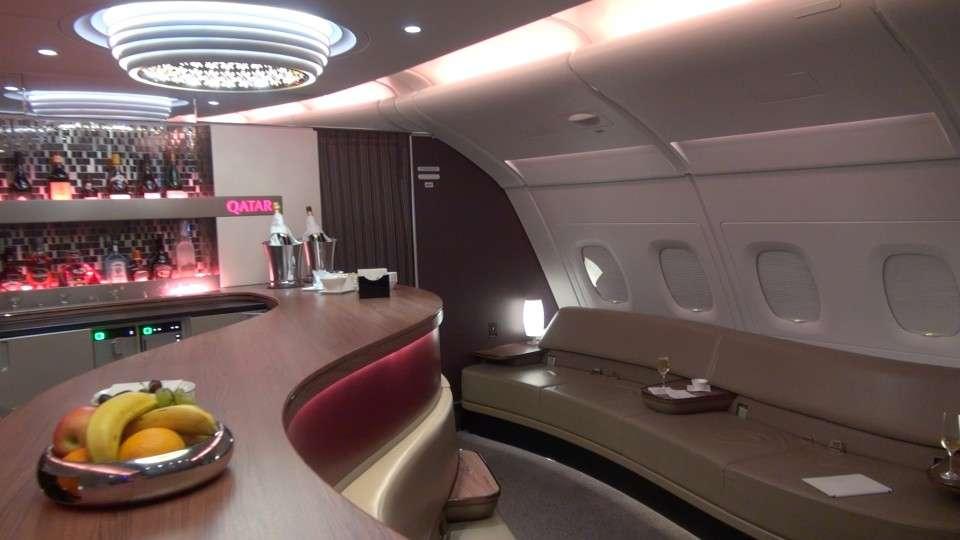 Qatar Airways A380 Lounge