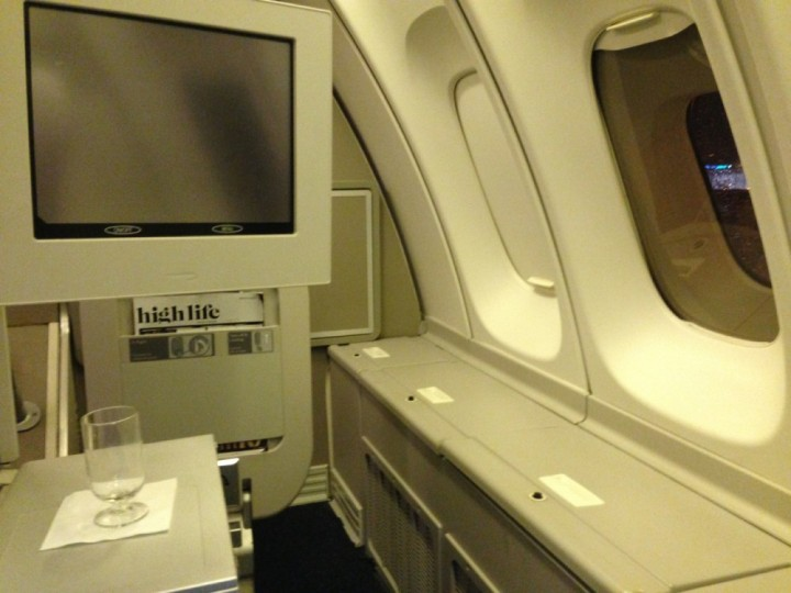 Seat 64A on a 747-400