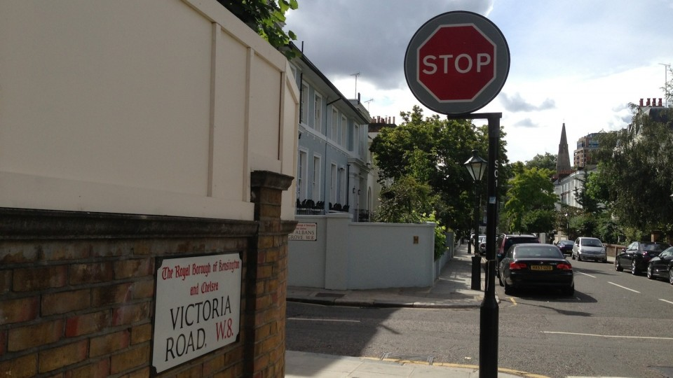 Only STOP sign in London