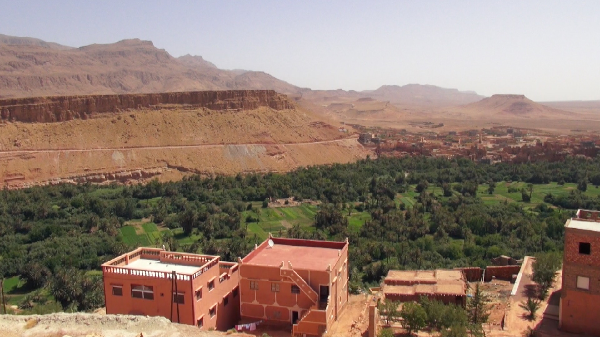 Tinghir City in Morocco